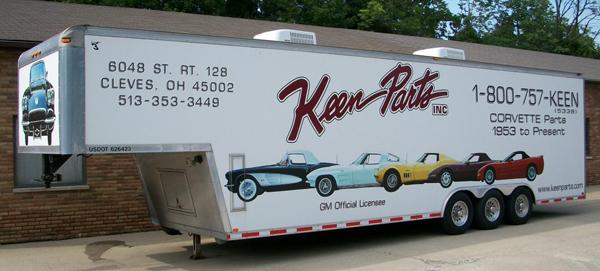 Keen Parts Corvette Show Trailer