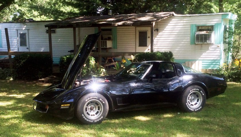 The Turners 1981 Corvette at their Camp