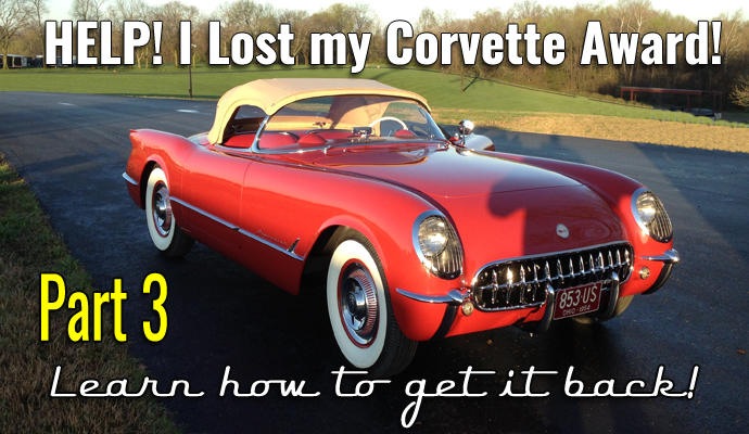 Your Corvette History Part 3- Lost Corvette Awards