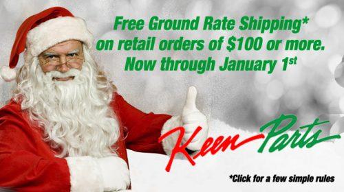 Free shipping on $100 retail orders now thru Jan. 1