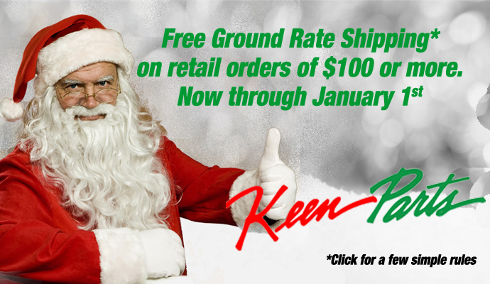 Free shipping on $100 retail orders now thru Jan. 1