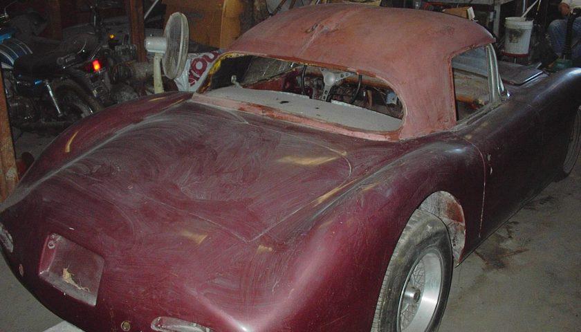 Before Corvette restoration