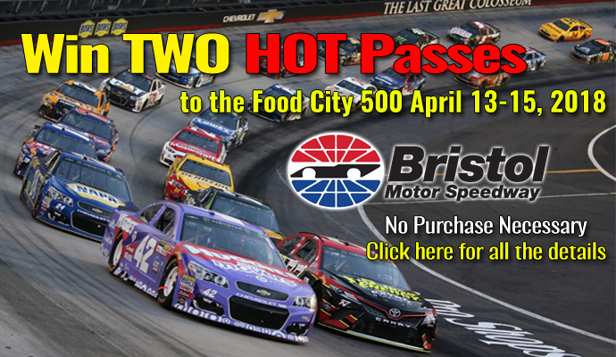 Keen Parts CorvetteParts.net Bristol NASCAR Hot Pass Giveaway