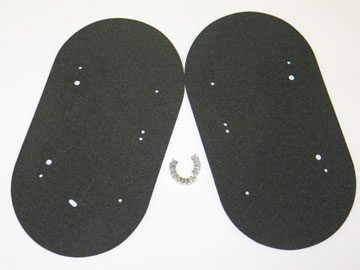1963-1967 Corvette Fresh Air Vent Door Seal Kit With Rivets