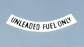 1975-1977 Corvette Fuel Warning Decal (black) Unleaded Only