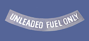 1975-1977 Corvette Fuel Warning Decal (white) Unleaded Only
