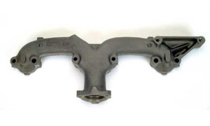 1958-1965 Corvette RH Exhaust Manifold  - 2 Inch (283 & 327) With Choke Tube
