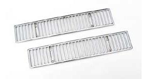 1968-1976 Corvette Chrome Rear Deck Vent Grille - Pair