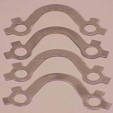 1966-1980 Corvette Exhaust Manifold French Lock Set (4 Pcs) - Stainless Steel - Small Block