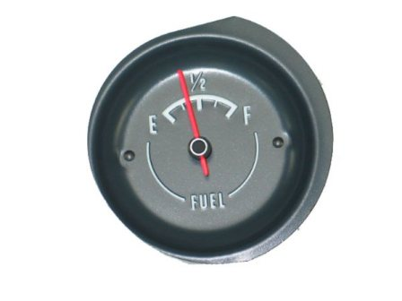1972-1974 Corvette Fuel Gauge With White Letters