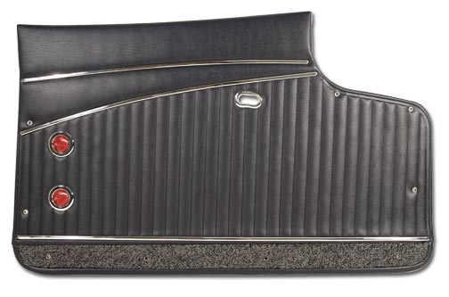 1962 Corvette Deluxe Door Panel - Pair With Metal Upper Support  (80/20 Loop  Carpet)