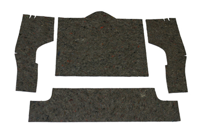 1963-1967 Corvette Rear Sound Deadener Set Under Carpet