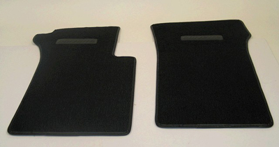 1963-1967 Corvette  Loop Floor Mats With Plastic Logo  ( Corvette )