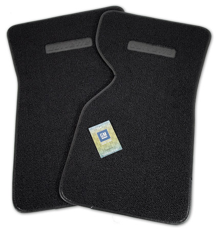 1968-1976 Corvette  Loop Floor Mats With Plastic Logo ( Corvette )