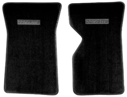 1970-1982 Corvette  Cutpile  Floor Mats With Plastic Logo ( Corvette )