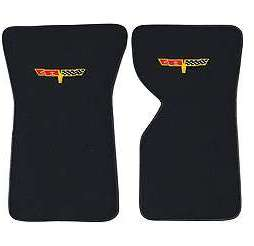 1970-1972 Corvette  Floor Mats Cutpile With Embroidered Logo ( Corvette Flags )