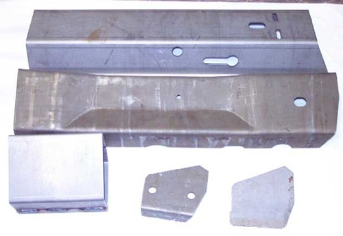 1975-1977 Corvette LH Side Rail Frame Section (23 Inch)