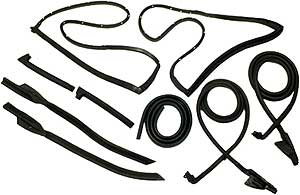 1970-1971 Corvette Coupe Weatherstrip Kit