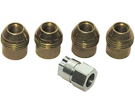1984-2002 Corvette Lug Nut Locking Kit With Key ( 5 Pcs )