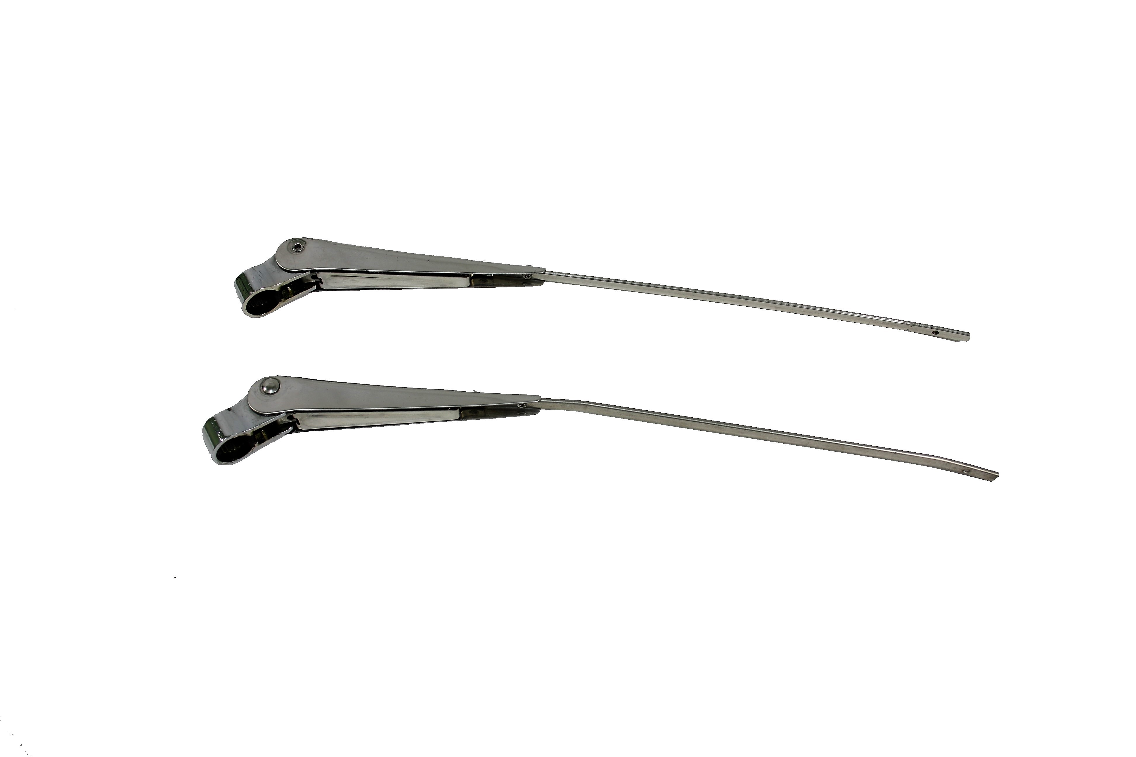 1956-1962 Corvette Wiper Arm - Pair With Blades (stainless Polished)