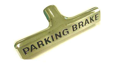 Corvette Parking Brake Handle With Black Letters