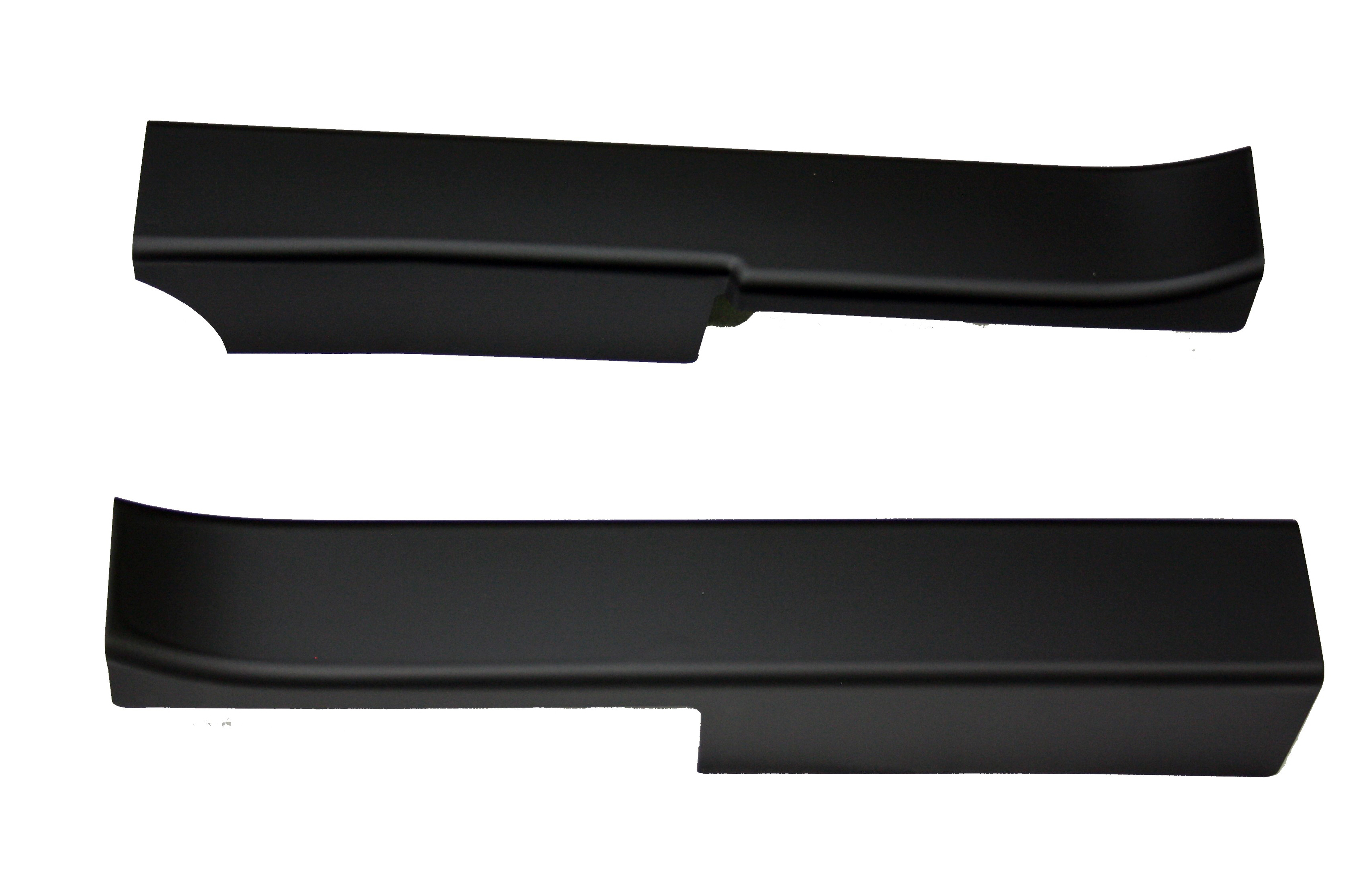 1990-1996 Corvette Sill Protector Black Plain Without Logo (pair)  ( 911pb )