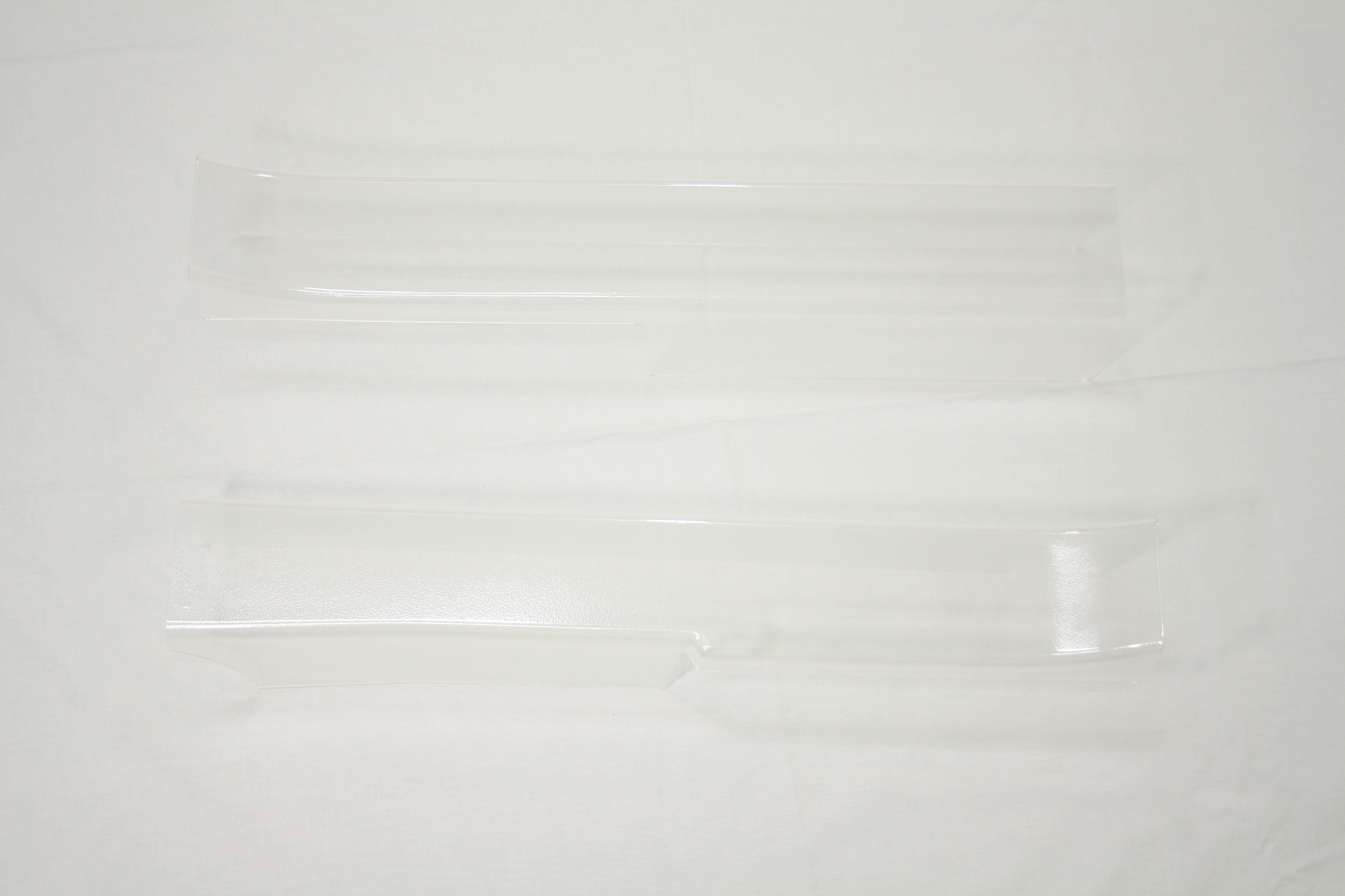 1990-1996 Corvette Sill Protector Clear Plain Without Logo (pair)  ( 911p )
