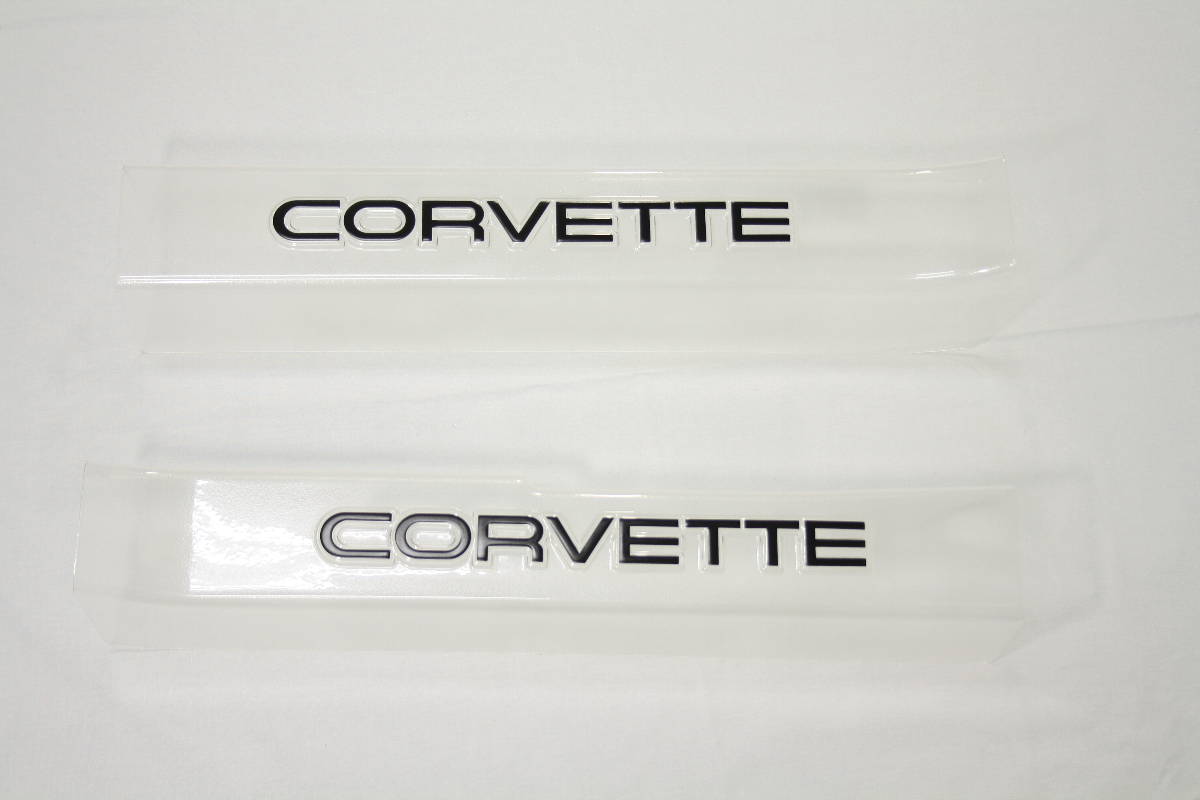 1990-1996 Corvette Sill Protector Clear With Black Letters (pair)  ( 911c )