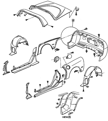 Corvette Parts Diagrams Accessories For C1 C2 And C3