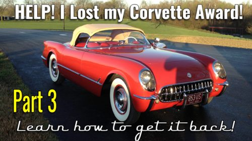 Your Corvette History Part 3- Lost Corvette Awards